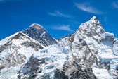 Everest and Lhotse mountain peaks. View from Kala Pattar - Nepal — Stock Photo