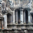 Pillars in the great angkor wat temple near Siem Reap, Cambodia — Stock Photo