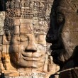 Smiling faces in wat Bayon in Angkor wat complex, Sieam Reap, Cambodia. — Stock Photo