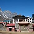 Tengboche - Buddhist Tibetan Monastery in Khumbu, Mont Everest region - Stock Photo