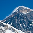 Top of the Mount Everest view from Kala Pattar, Nepal - Stock Photo