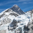 Mount Everest panorama photo was taken from the top of Kala Pattar — Stock Photo
