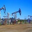 Oil pumps in Surgut, Russia. Oil industry equipment — Stock Photo