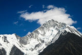 The summit of mount Minya Konka in Sichuan province, China — Stockfoto
