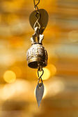 Isolated tradition asian bell in Buddhist temple in Chiang Mai, Thailand. — Stock Photo