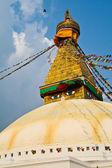 буддийская ступа boudhanath в катманду непал — Стоковое фото
