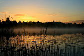Sunrise over a marsh — Stock Photo