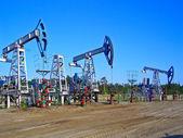 Oil pumps in Surgut, Russia. Oil industry equipment — ストック写真