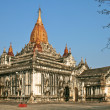 White Ananda temple in Bagan, Myanmar (Burma). - Stock Photo
