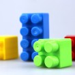 Plastic toy blocks — Stock Photo #6038348