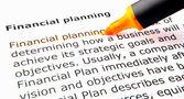 финансовое планирование — Стоковое фото