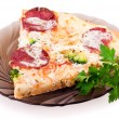 Slice of pizza — Stock Photo