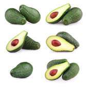 Set of avocados isolated on white — 图库照片