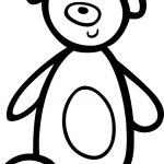 Teddy bear for coloring book — Stock Vector