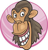 Schimpanse — Stockvektor