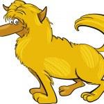 Shaggy yellow dog — Stock Vector