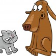 Kitten and dog - Stock Vector