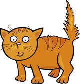 Söt liten katt — Stockvektor