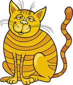 Happy Yellow Cat — Stock Vector