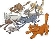 猫の実行 — ストックベクタ