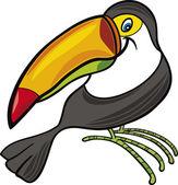 Cartoon toucan — Stock Vector