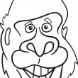 Gorilla ape for coloring book — Image vectorielle