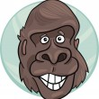 Gorilla ape — Stock Vector