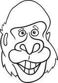 Gorilla ape for coloring book — Stock Vector