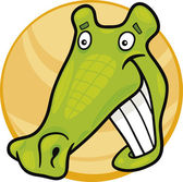 Cartoon crocodile — Stockvector