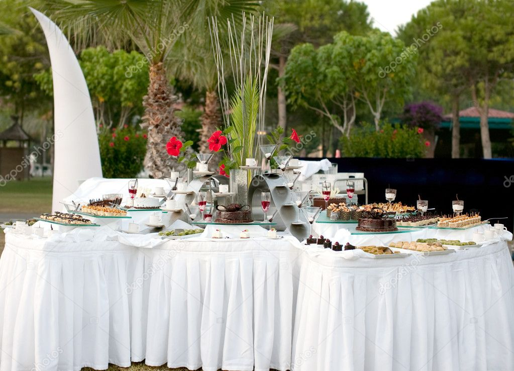 Sweet table for the buffet table at the festival stock photo supersan 58 - Buffet table integree ...
