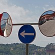 Stock Photo: Mirror sign