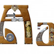 Stock Photo: A-steampunk letter