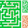 Stock Vector: Green maze
