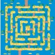 Tropical island maze — Stockvektor