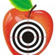 Target in the center of the apple — Stock Vector