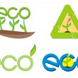 eco sign — Stock Vector