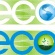 Eco banners — Stock Vector #6457633