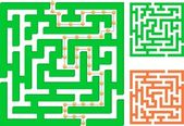 Green maze — Stock Vector