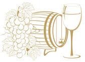Winemaking template — Stock Vector