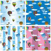 Seamless pattern set balloons — Stock Vector