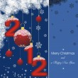 New year card 2012 in blue — Stock Vector #6527995