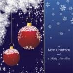 青の新年カード星 — ストックベクタ