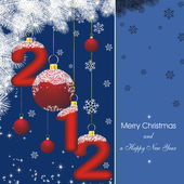 New year card 2012 in blue — Stock Vector