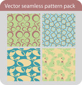 Vector Seamless Pattern Pack — Stock Vector