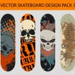 Skateboard Design Pack 5 — Stock Vector