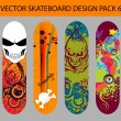 Skateboard Design Pack 6 — Stock Vector
