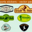 Sports Stickers — Stock Vector
