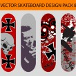 Stock Vector: Skateboard Design Pack 8