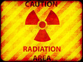 Grunge radiation warning — Stock Photo