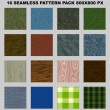 Stock Photo: Seamless pattern pack